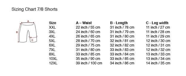tableau avec des dimensions 7/8 Shorts