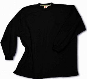 Sweatshirt open end sans lisière noir