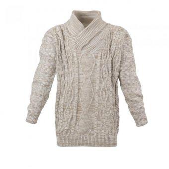 Lavecchia Pull tricoté en écrue-beige