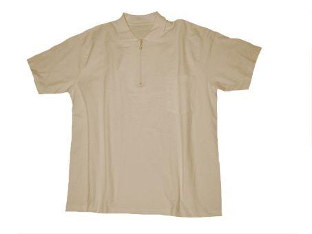 Polo T-Shirt avec poche et avec Zip sable