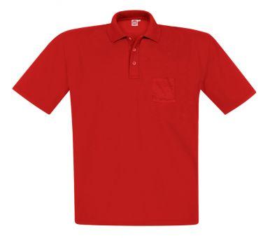 Polo-Pique avec poche rouge