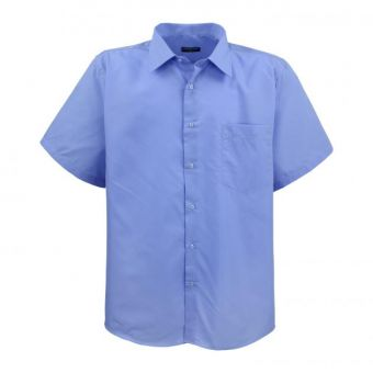 Chemise Lavecchia à manches courtes bleu