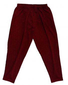 Pantalon de Jogging bordeaux melange