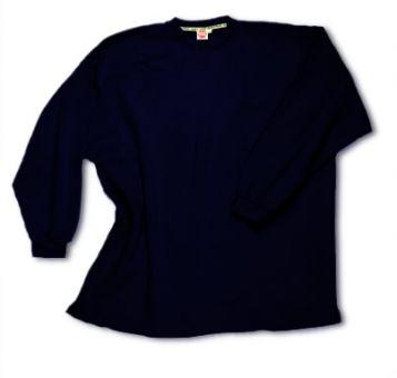Sweatshirt open end sans lisière bleu-navy