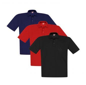 Polo-Pique avec poche 3-Pack
