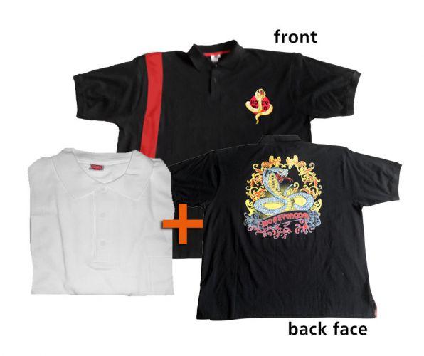 Pack Polo Shirt Basic white plus polo shirt Snake